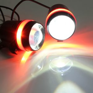U3 Projector Lamp CREE LED 3 Mode Light Headlight Driving Fog Spot Lamp For Royal Enfield & All Bikes