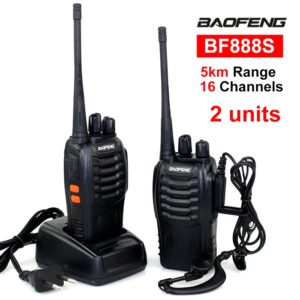 Baofeng BF-888S 2-Way Radios Walkie-Talkies Radio 16CH 5W UHF 400-470MHz, Long Range (Upto 5 Km) Handheld Radios Comunicador Transmitter Transceiver Built in LED Torch, Pack of 2