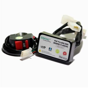 SIMTAC Hazard Flasher Module/ Adapter for Bajaj Pulsar 150/ 180/ 220, Waterproof 20 Patterns Plug & Play Hazard Flasher Module with Control Switch