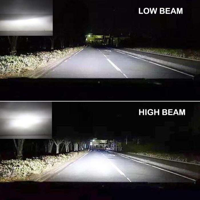 NightEye S2 COB LED Car/ Bike Headlights H4 Bulbs Lamps 72W 9000LM 6500K, Hi/Low All-in-One Conversion Kit with IP68 Waterproof Grade