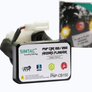 SIMTAC Hazard Flasher Module/ Adapter for Honda CBR, Waterproof 20 Patterns Plug & Play Hazard Flasher Module with Control Switch