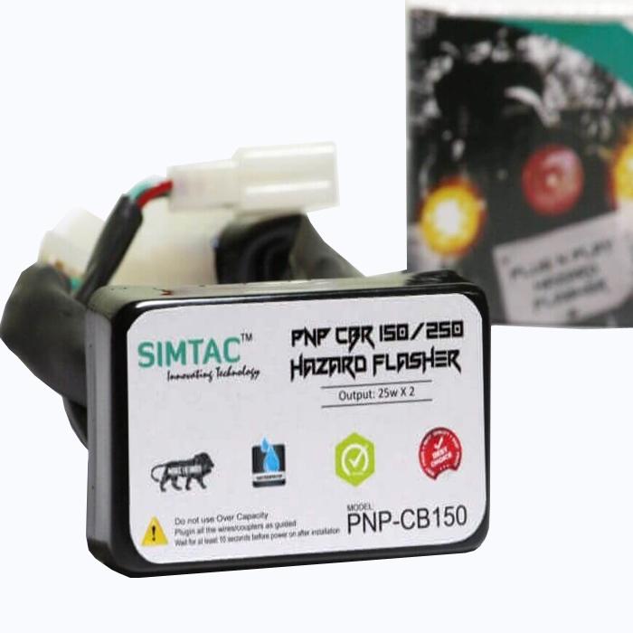 SIMTAC Hazard Flasher Module/ Adapter for Honda CBR 150/ CBR 250, Waterproof 20 Patterns Plug & Play Hazard Flasher Module with Control Switch