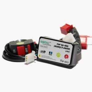 SIMTAC Hazard Flasher Module/ Adapter for Bajaj Bike, Waterproof 20 Patterns Plug & Play Hazard Flasher Module with Control Switch