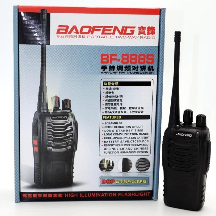Baofeng BF-888S 2-Way Radios Walkie-Talkies Radio 16CH 5W UHF 400-470MHz, Long Range (Upto 5 Km) Handheld Radios Comunicador Transmitter Transceiver Built in LED Torch, Pack of 2