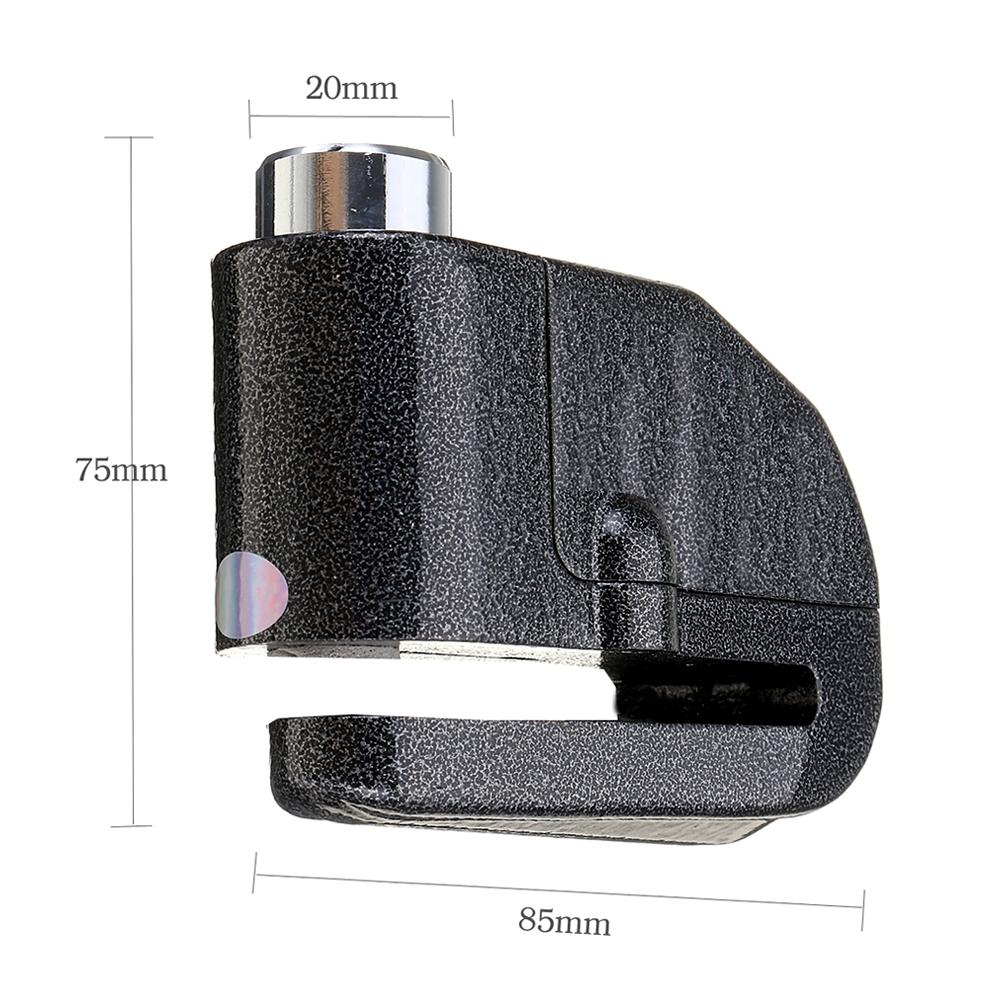 Universal Waterproof Anti-Theft Alarm Disc Lock, 110dB Alarm Sound 7mm Pin, Motion Sensor Security Loud Disc Brake Lock with 2 Keys