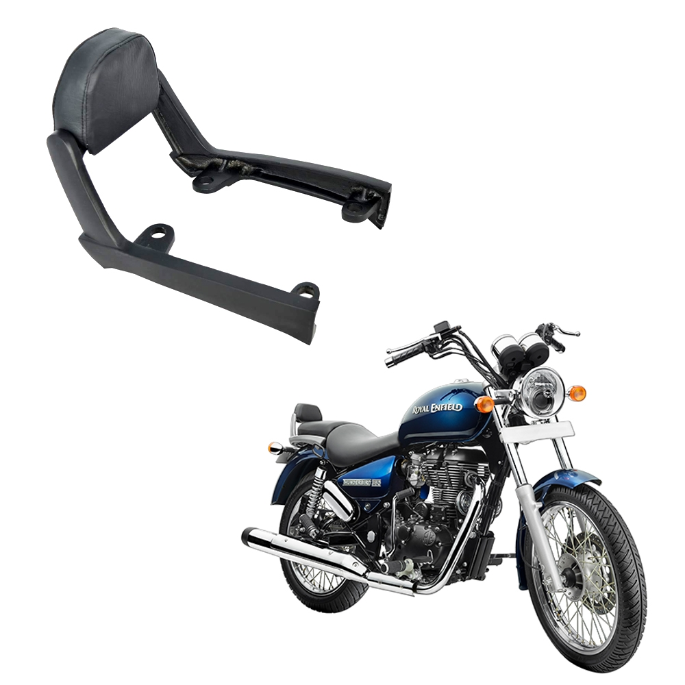 Backrest Comfortable Cushion for Royal Enfield Thunderbird 350x/ Thunderbird 500x, Back Rest Support Pillion Black Cushion Style Backrest (Black)