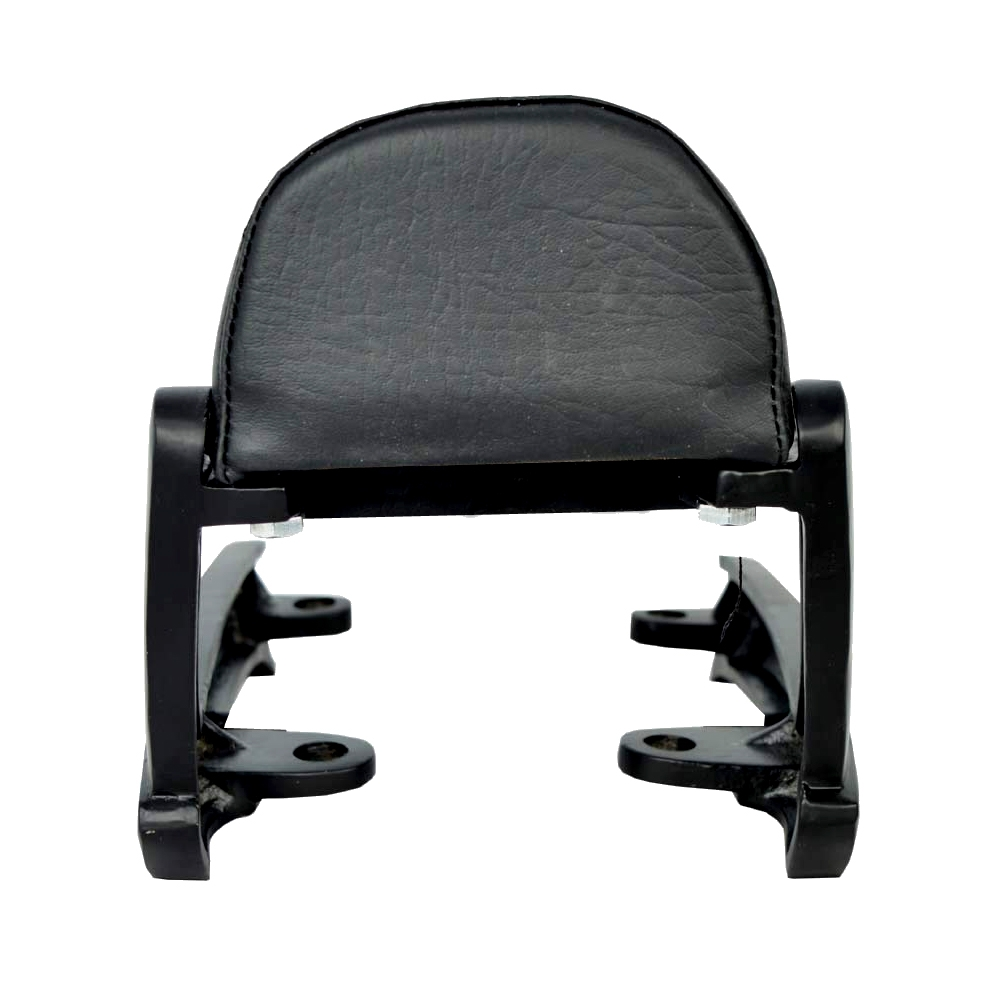 Backrest Comfortable Cushion for Royal Enfield Thunderbird 350x/ Thunderbird 500x, Back Rest Support Pillion Black Cushion Style Backrest (Black)