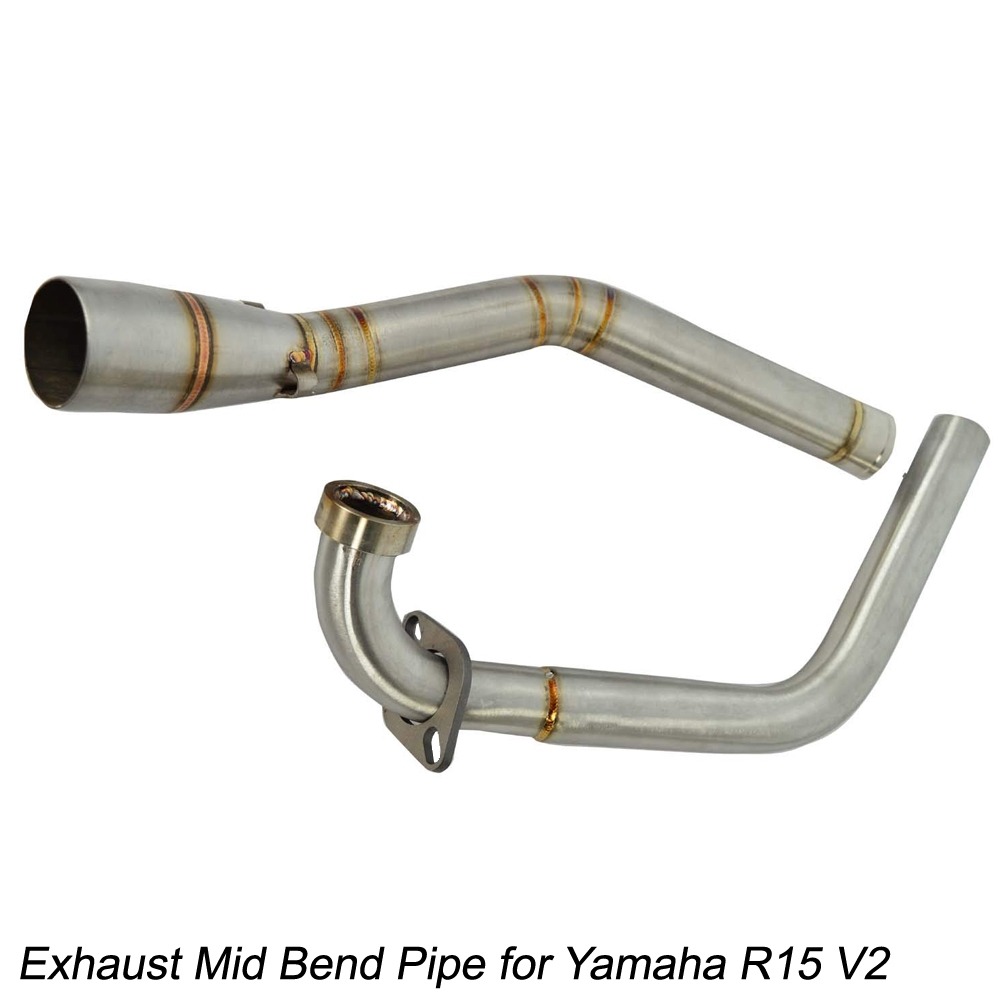 Stainless Steel Exhaust Mid Bend Pipe Slip-on for Yamaha R15 V2