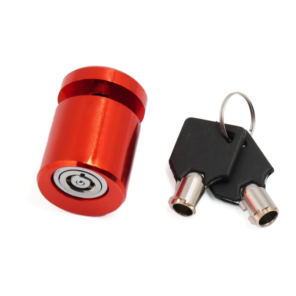 Round Anti-Theft Chrome Disc Lock for Motorcycle Scooter Bike Bicycle Wheel Disk Lock, Security Safety Brake Lock with 2 Keys