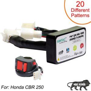 SIMTAC Hazard Flasher Module/ Adapter for Honda CBR 250, Waterproof 20 Patterns Plug & Play Hazard Flasher Module with Control Switch