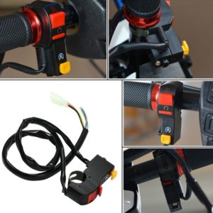 Headlight/ Horn 2 In 1 ON-OFF Switch, 2.5cm Diameter Handlebar DIY Button Accessory For Motorcycle Bike Scooter ATV