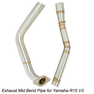 Stainless Steel Exhaust Mid Bend Pipe Slip-on for Yamaha R15 V3
