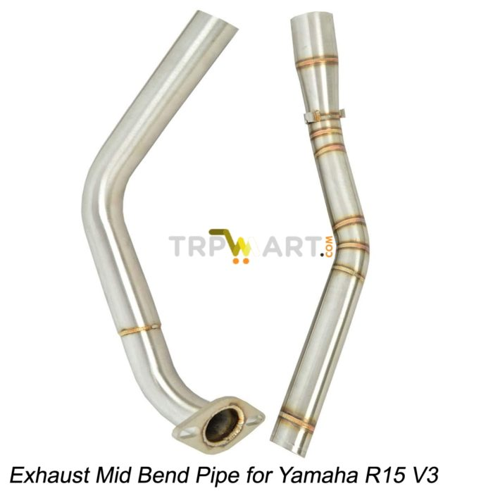 Stainless Steel Exhaust Bend Pipe for R15 V3 and MT 15/ Exhaust Mid Slip-on  Bend Pipe for Yamaha R15 V3