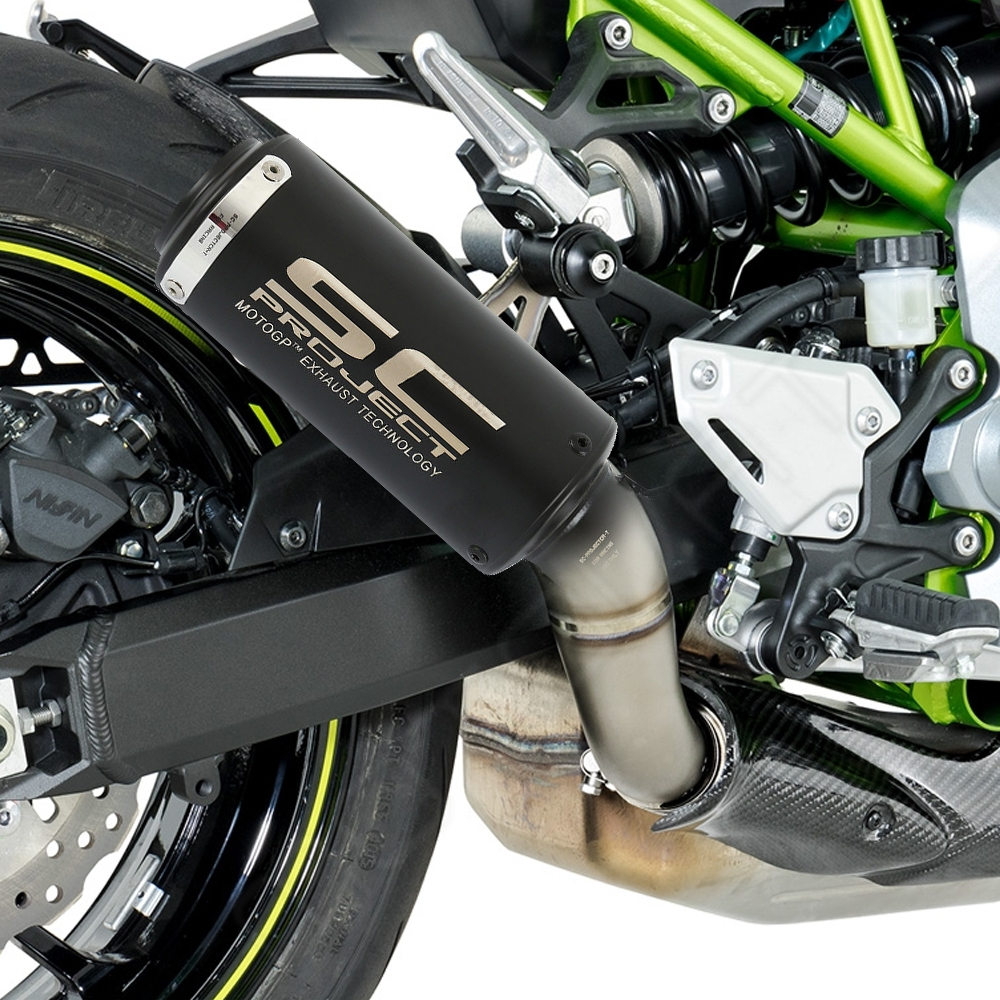 Universal SC Project Black Exhaust Silencer Pipe 51mm Muffler Pipe for all Indian Bikes/ Motorcycle