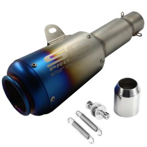 SC Project Long Rainbow Blue Head (Rocket) Exhaust Silencer & Muffler Pipe for all Bike for all Bikes/ Motorcycle