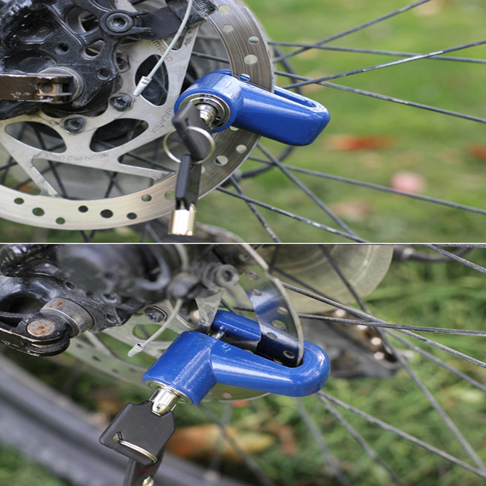 Anti Theft Brake Disc Lock For Motorcycle Scooter Bike Bicycle Wheel Disk Lock, Security Safety Brake Lock with 2 Keys (Multicolour)