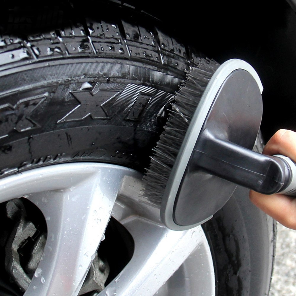 Tyre Brush Wheel Cleaning Tire Brush Rim Scrub Brush Cleaner Tyre Auto Truck Motorcycle Bike Wheel Brush Washing Hub Cleaning Tool