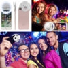 Rechargeable Clip-on Selfie Ring Light with 36 LED, 3 Lighting Level & 2 Light Mode for Smartphone Camera, Suitable for iPhone, Android, Windows Phone