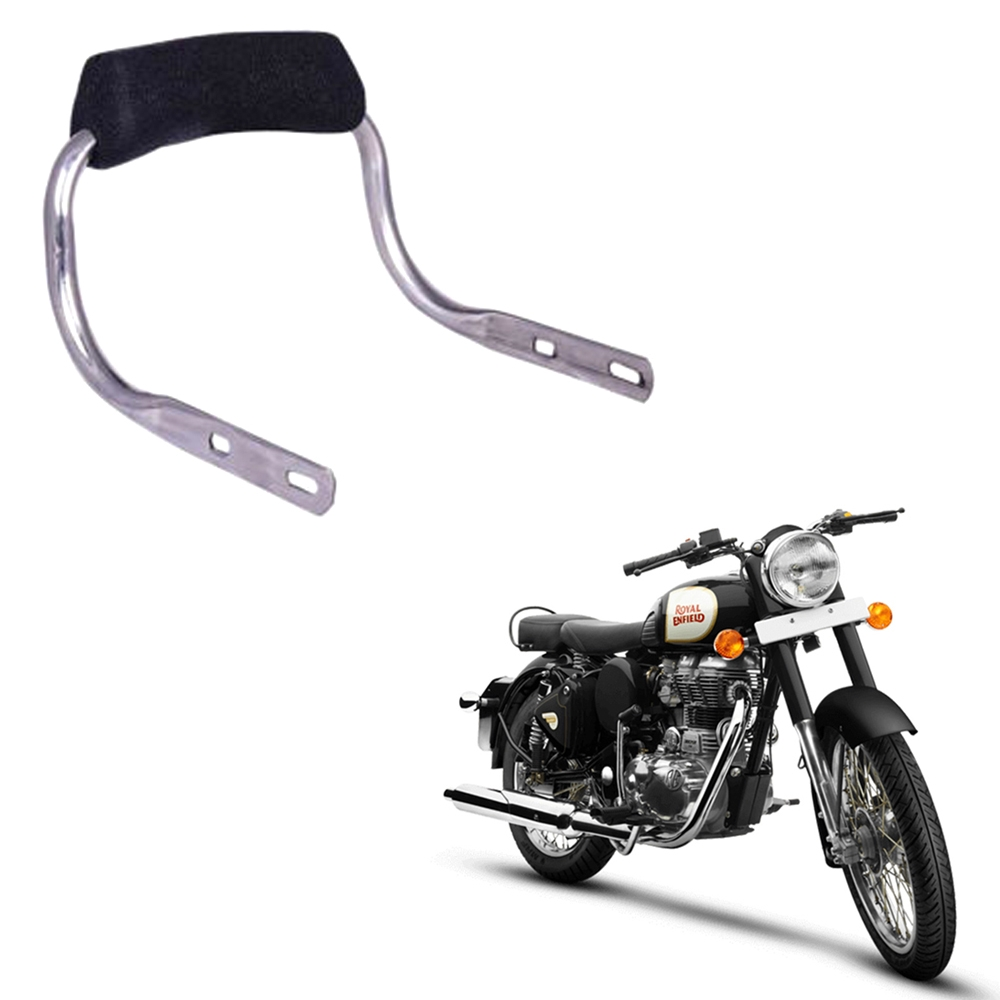 Backrest Comfortable Cushion for Royal Enfield Classic 350/ 500, Electra 350/ 500, Standard Bullet 350/ 500, Back Rest Support Pillion Black Cushion Style Backrest