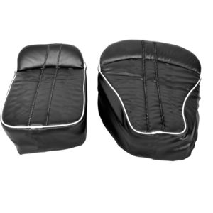 High Quality Bike Seat Cover with Soft Backrest for Royal Enfield Bullet Classic 350/ 500 (Black, Set of 2)