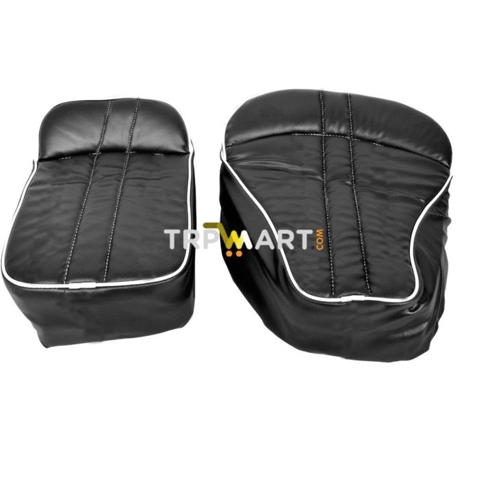 Groovy High Quality Bike Seat Cover With Soft Backrest For Royal Enfield Bullet Classic 350 500 Black Set Of 2 Spiritservingveterans Wood Chair Design Ideas Spiritservingveteransorg