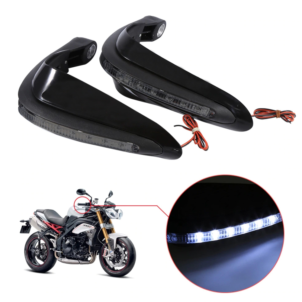 Universal Handguards Protector with LED Indicator Light, Knuckle Guards for Motorcycle & Dirt Bike with Mounting Kit (Pack of 2)