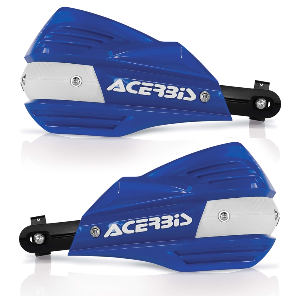 Blue Acerbis X-Factor Handguards Uniko Protector, Knuckle Guards for Universal Motorcycle & Dirt Bike with Mounting Kit