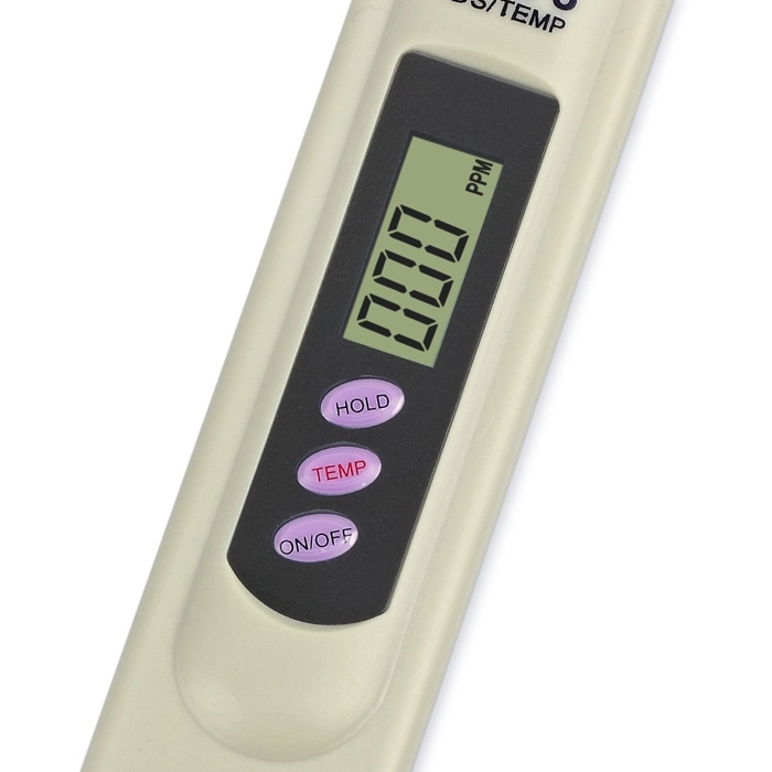 Digital TDS Meter Water Tester Detection Digital LCD Display Water TDS3/ TEMP/ Hold PPM Tester for Measuring Water Purity Quality