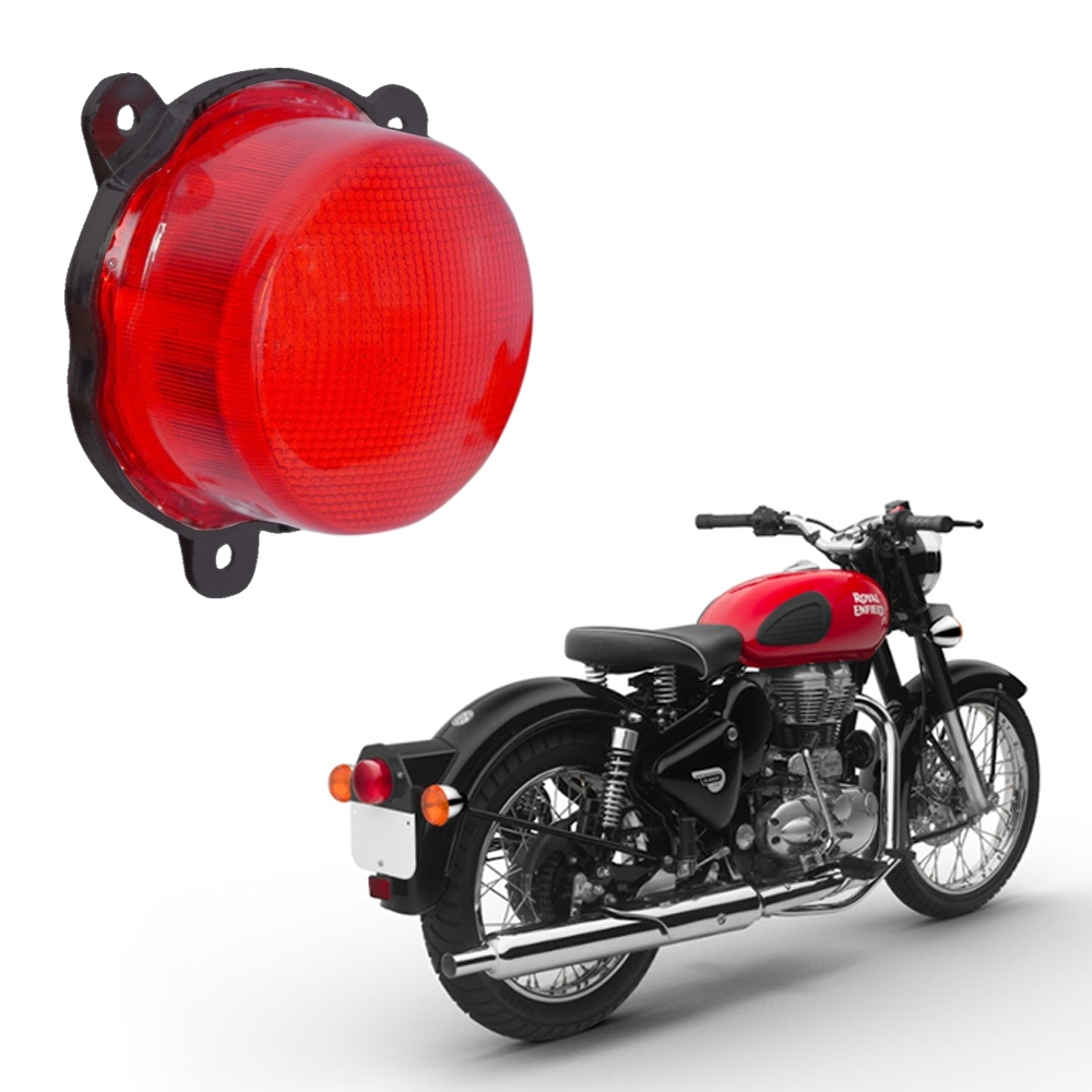 High Quality Dual Ring LED Tail Light with Parking DRL Light & Number Plate Light for Royal Enfield Classic 350/ 500
