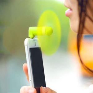Portable OTG Mini USB Fan, Large Wind Cooling Fan for Apple iPhone 5, 5s, 5c, 6, 6+ & iPad, Multi-Colors
