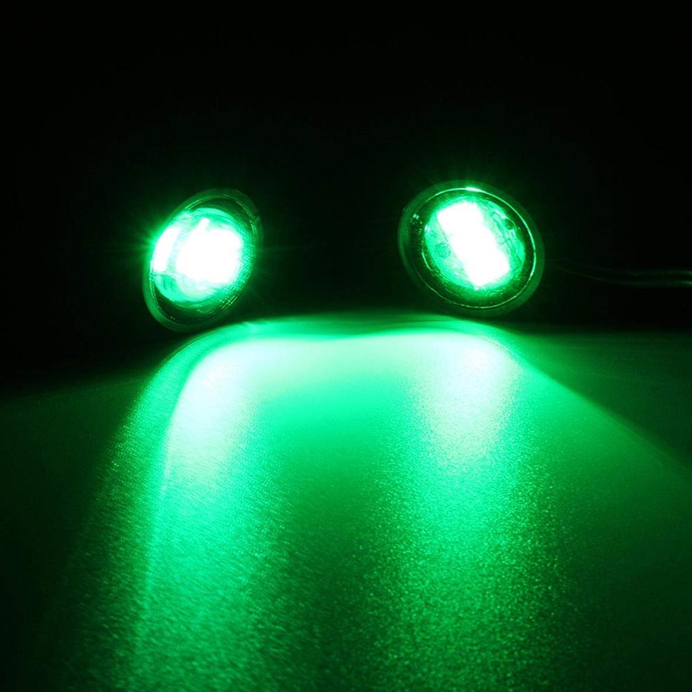 Green Waterproof 12V Motorcycle Mirror Mount Led Flash Strobe Light, Eagle Eye LED Strobe Backup DRL Lights Lamp, Warning Brake Light Lamp for Car & Bikes