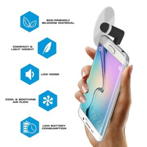 Portable OTG Mini Micro USB (V8 Pin) Large Wind Cooling Fan for Android Mobile Phones Multi-colors