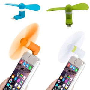 Portable OTG Mini USB Fan, Large Wind Cooling Fan for Apple iPhone 5, 5s, 5c, 6, 6+ & iPad, Multi-Colors