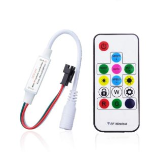 Mini SP103E 14 Key Wireless RF LED Remote Controller with GGD 358 Kinds Effects for DC 5V~24V WS2811, WS2812 & WS2812B LED Strip Module Pixel Light Lamp
