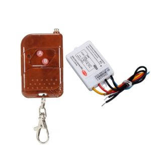 1 Way Remote Switch, Wireless Remote Control Switch for Light, Digital Remote Control Switch for Fan, TV, Cooler, 10 Amp AC Load, Work on RF Radio Frequency