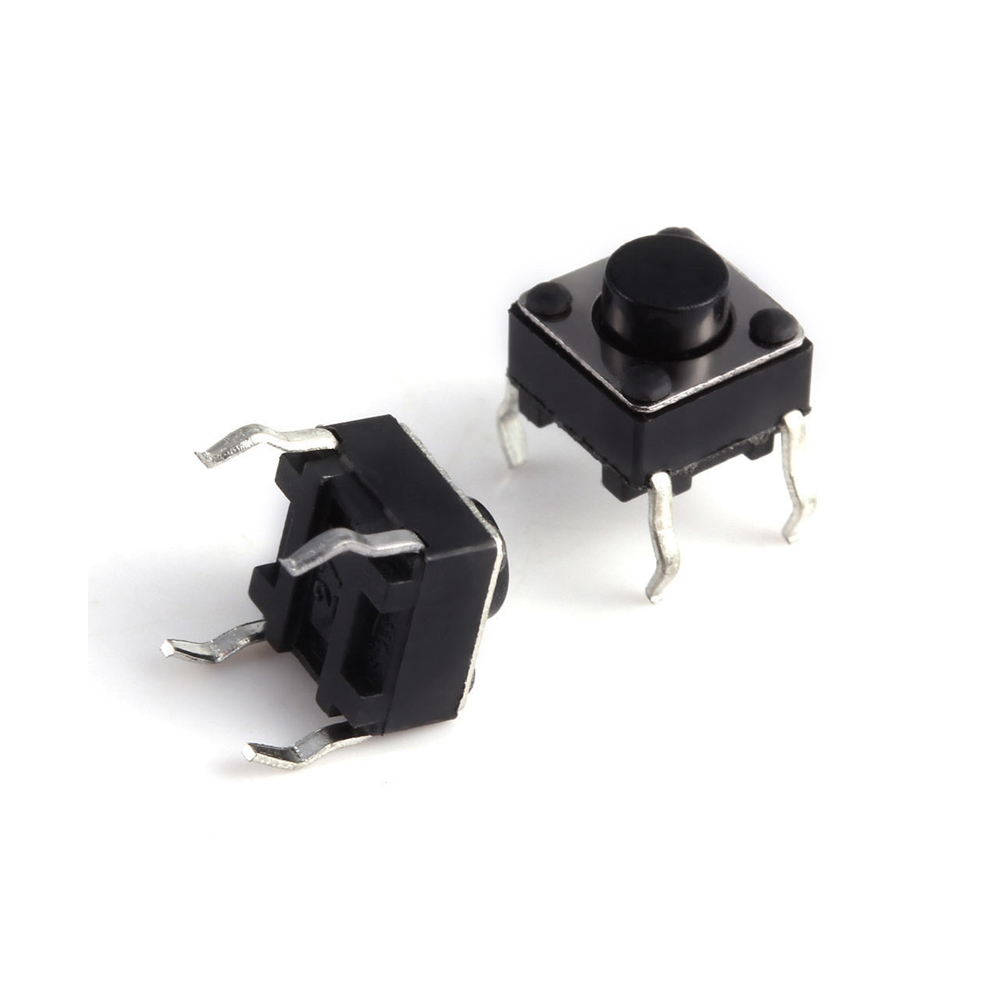 Miniature Micro Momentary Tactile Tact Touch Push Button Switch 4 Pin, 6x6x6 mm