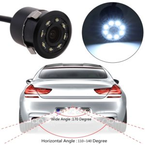 Waterproof Car Rear View Reversing Parking Camera, 8 LED 18.5mm CCD CMOS Night Vision Car Reverse Camera with Night Vision