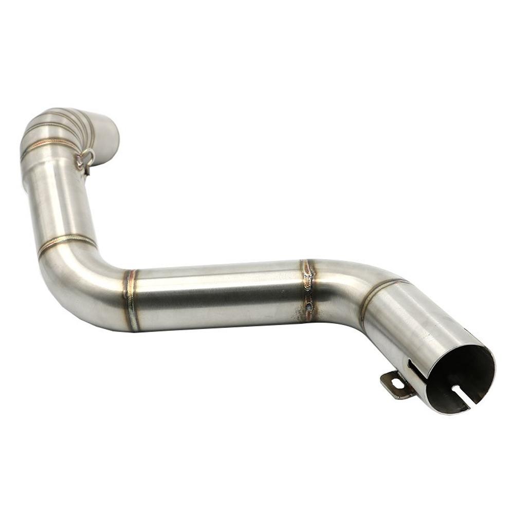 Stainless Steel Motorcycle Exhaust Middle Muffler Bend Pipe for KTM DUKE 125/ DUKE 200/ DUKE 250/ DUKE 390