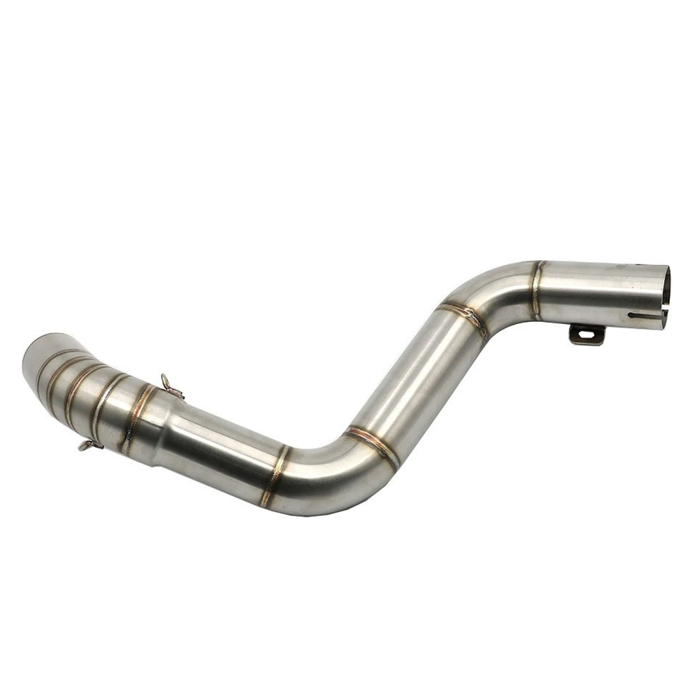 Stainless Steel Motorcycle Exhaust Middle Muffler Bend Pipe for KTM DUKE 125/ DUKE 200/ DUKE 250/ DUKE 390