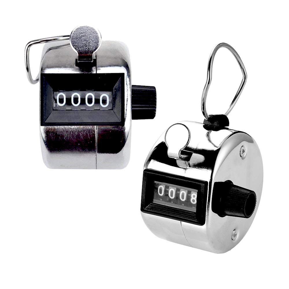 4 Digits Display Hand Held Tally Counter Numbers Clicker, Analog Tally Counter for Mantras, Yoga, Golf, GYM, Circuit Training, Track & field Events