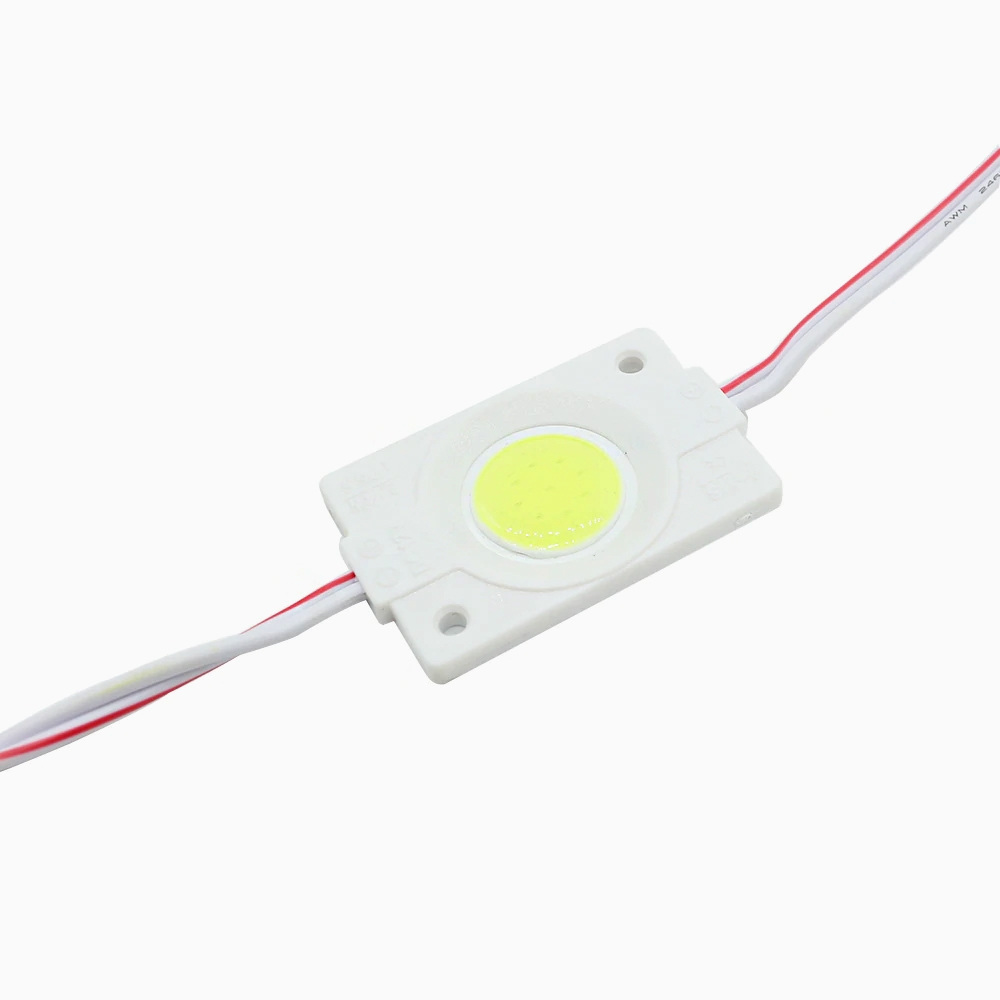 Ultra Bright 2.4W COB LED Light Module, Bead Chip Light Strip, DIY, DC 12V, IP65 Waterproof, Injection COB LED 2.4W Module