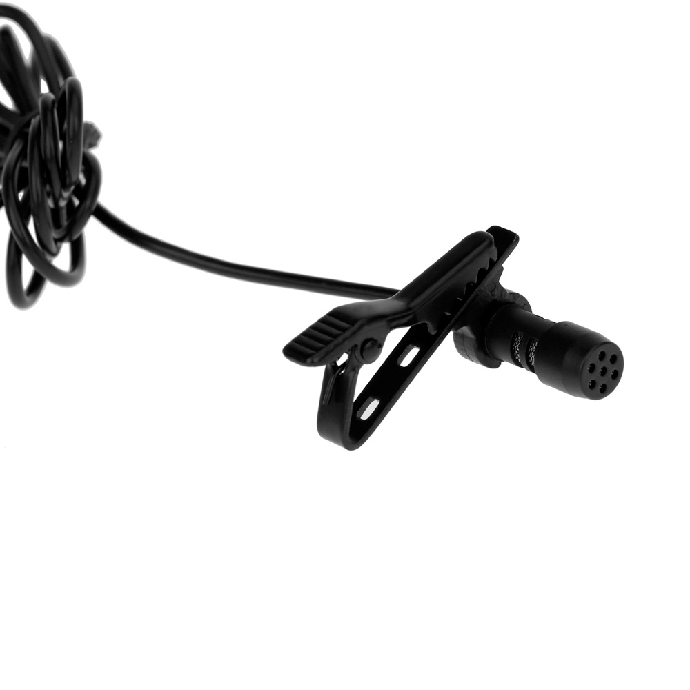High Sensitivity 3.5mm Clip On Mini Collar/ Lapel Microphone, Collar Mic for Voice Chat, Video Conferencing, Sound Recording & Video Blogging