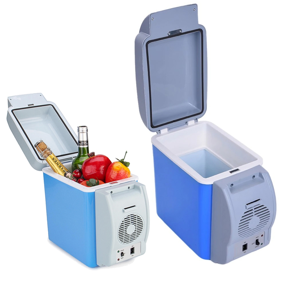 Portable Fridge 12V 7.5L Capacity Portable Car Refrigerator Cooler Warmer Truck Thermoelectric Electric Fridge for Travel RV Boat
