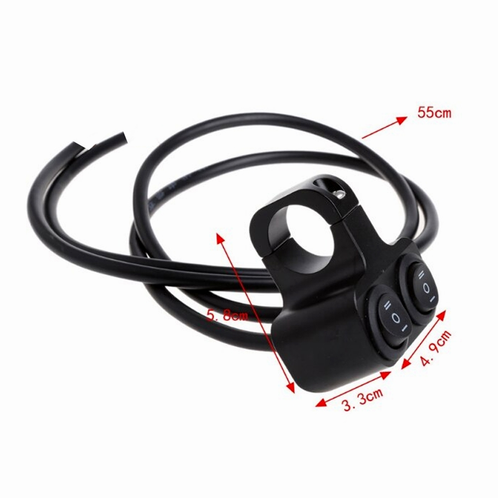 """Universal Heavy Duty 22mm 7/8"""" Motorcycle Handlebar Dual Switch ON OFF Button for Motorcycle, Harley, Dirt Bike, Scooter, ATV"""
