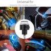 Universal 7/8'' 22 mm Handlebar Red Turn Signal Indicators, White DRL & Bar Laser Light, Handlebar Weight Grip Bar End LED Light