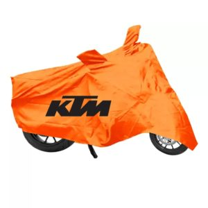 High Quality KTM Bike Body Cover with Mirror Pockets, Waterproof Rain UV Dust Prevention Dustproof Covering Covers for KTM all Model Bikes (Orange)