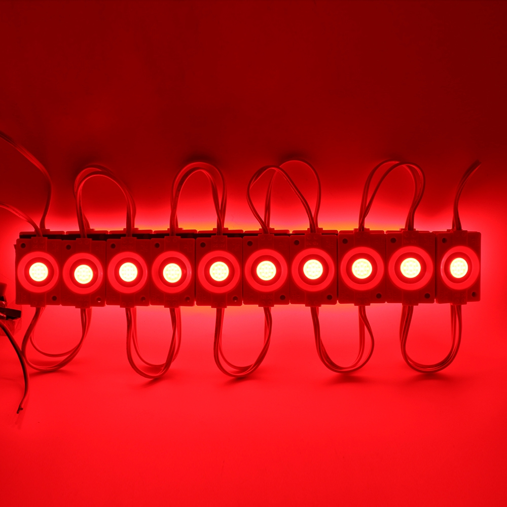 Red Ultra Bright 2.4W COB LED Light Module, Bead Chip Light Strip, DIY, DC 12V, IP65 Waterproof, Injection COB LED 2.4W Module