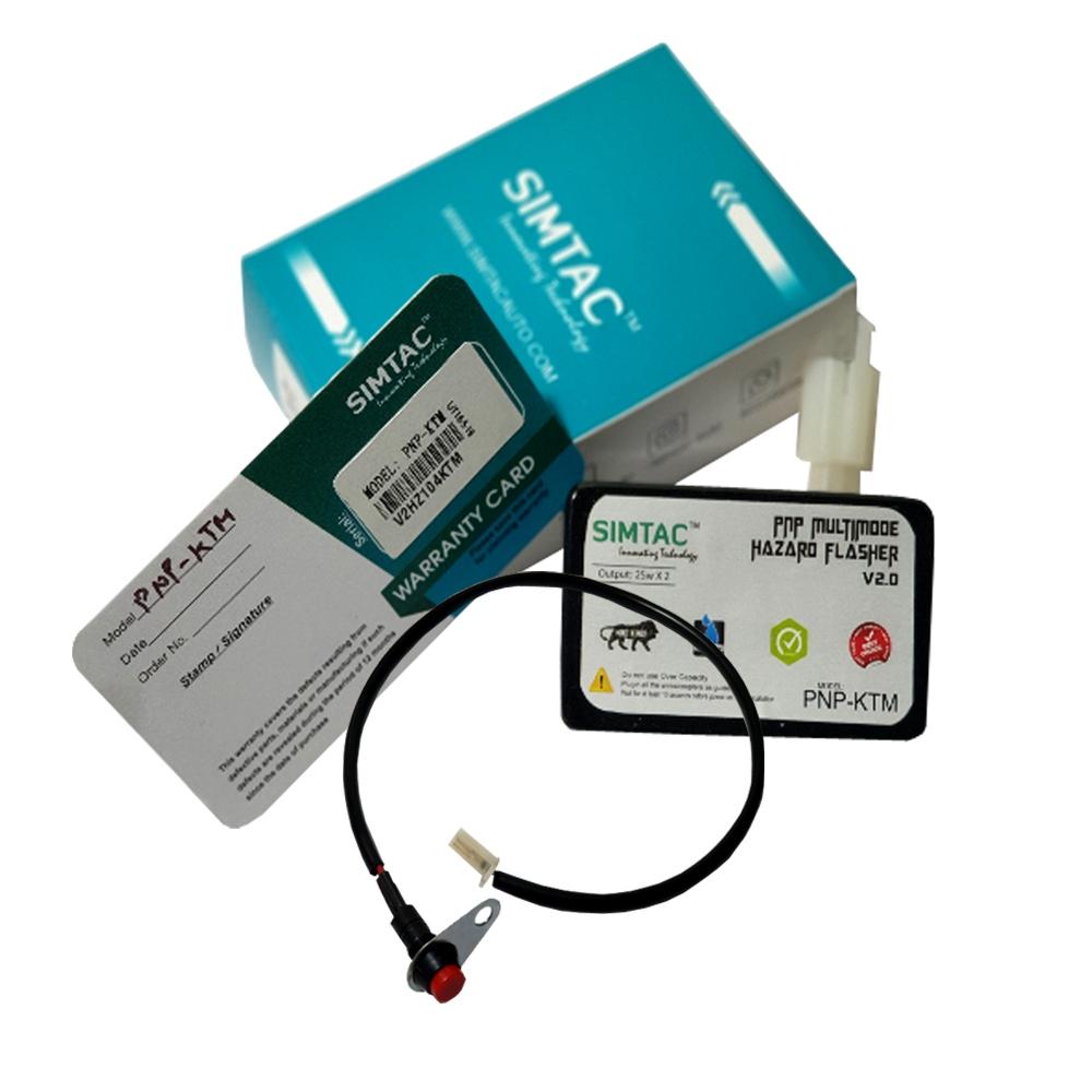 SIMTAC Hazard Flasher Module/ Adapter for KTM Duke/ KTM RC, Waterproof, 40 Modes Patterns, 14 Pins Connector Plug & Play Hazard Flasher Module