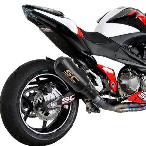 Universal SC Project Small Black (Rocket) Exhaust Silencer, 36-51mm Muffler Pipe for all Bike for all Bikes/ Motorcycle
