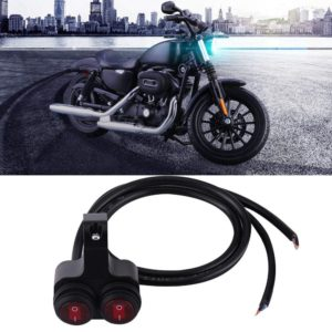 Universal Heavy Duty 22mm 7/8″ Motorcycle Handlebar Dual Switch ON OFF Button with Indicator Backlight for Motorcycle, Harley, Dirt Bike, Scooter, ATV